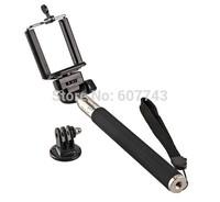 Extendable Handheld Telescopic Monopod Holder + clip For GoPro Hero 1/2/3 Camera iPhone