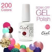 Choose 12pcs Civi UV Gel  200 Colors Optional UV Gel Nail Polish Long-lastting UV Gel Nails up to 40 Days