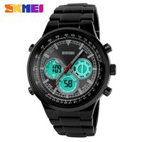 Watch Men Casual Watches 2014 LED Digital Quartz Vintage Jewelry Stainless Steel Men's Wristwatches 30M Waterproof Male Clock