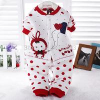 Winter Baby Girl Set Autumn Cotton Boys Clothing Children's Kids Suit Free shipping Coats/Tops+Pants 2pcs 0-2T