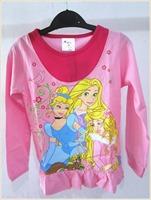 New 2014 baby girls long-sleeve T-shirts, cartoon princess shirts Children's T shirts, children autumn clothes, cartoon t-shirt