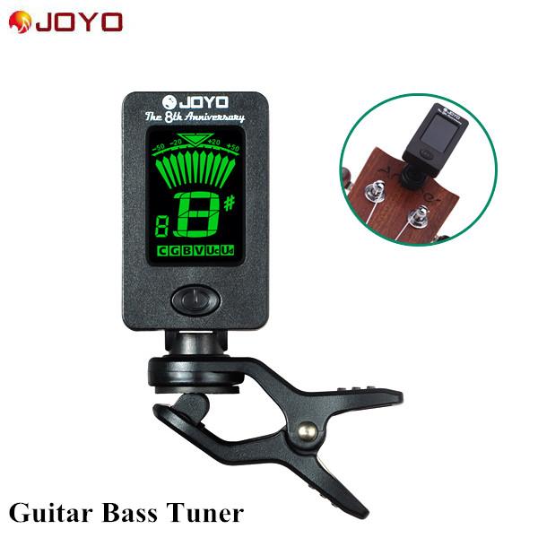 New JOYO Guitar Bass Tuner Afinador Mini LCD Clip-on 360 Degree Rotatable Clip Tuner for Chromatic Guitar Bass Violin Ukulele(China (Mainland))