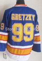 wholesale St. Louis #99 Wayne Gretzky blue CCM vintage hockey jerseys, w/ C patch, please read size chart