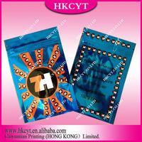 High quality 7H blue 3g potpourri herbal incense bag / 7h kush zipper incense bag