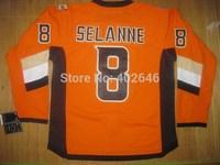 2014 Stadium Series jerseys, Anaheim #8 Teemu Selanne orange jerseys, PS: this is the CORRECT version