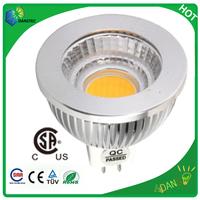 10pcs/lot  12VDC dimmable CSA MR16 5w cob led spotlight