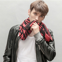 2014 Fashion Classic Brand Scarves Popular pashmina printed knitted long men scarf 100% silk