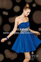 Bead Crystal Sash Luxury Strapless Royal Blue Short Dress Homecoming Party Graduation 2015 HM645