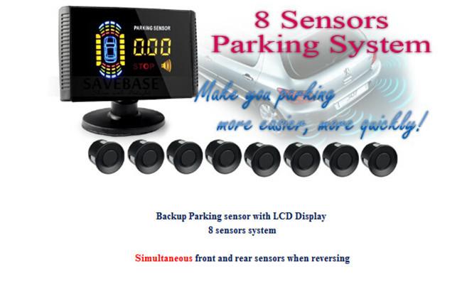 8 Parking Sensor Parktronic LCD Car Reverse Radar Rearview BackUp Alarm System Radar Car accessories auto Assistance System(China (Mainland))