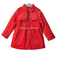 2014 Autumn Girls Clothing Fashion Outerwear Children Long Sleeve Coat England Style Girls Coats Jackets 1pcs free shipping