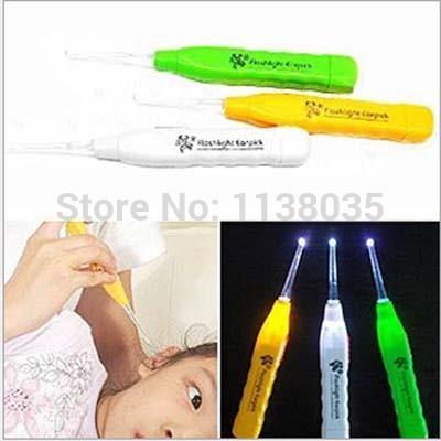 cleaning ears Light Ershao Digging Ershao With Light Cartoon Ershao Dig Ear Device Color Random led flashlight baby products(China (Mainland))