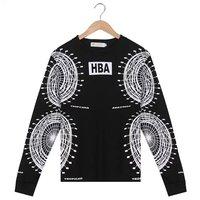 Free shipping 2014 Fashion hot sale men hba jacket Ferris Wheel print HBA letter casual sweatshirt outerwear casual street coats