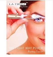 lighting tweezer 5458 eyebrow clip eyelash curler beauty clip
