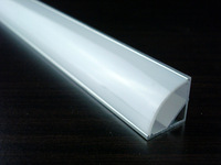 25pcs 2 meters FREE shipping 1616 corner aluminum profile with three color cover available for width up to 10mm led strips