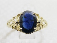 Sapphire ring 18k gold rings Perfect Jewelry Natural and real sapphire Fine jewelry Blue gem For ladies #14090915