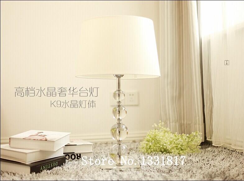 K9 Crystal Table Lamp Home Office Bedroom Lampshade Decoration Luminaire E27 110-240V(China (Mainland))