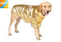 Free Shipping Pet Dog Clothes Winter Warm Clothing Gold Luxury Design Large Dog Apparel 5 Size High Quality Pet Clothing Coat