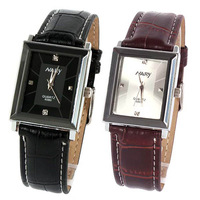 New Leather Man's Men's Quartz Analog Wrist Watch Square Dial Watches Gift Free Shipping and Drop Shipping