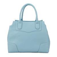 """H009 skyblue,pu leather bag& shoulder straps,Two function,7 different colors,13 x 5 x 10.5""""(L*W*H),Free shipping!"""