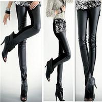 2014 Women's Leather Leggings Sexy imitation Leather Slim PU Points Pants Women's Leggings free shipping