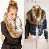Fashion fake fur leather grass scarf winter scarf female shawl free shipping
