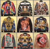 Unisex 3D Printing Long Sleeve Shirt Hoodies Iswag 1991 INC Harajuku Galaxy Biggie Medusa Pullover Sweatshirt Free Shipping
