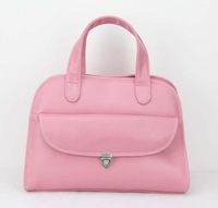"""H034(Pink),Handbag, make of PU, two function,12 different colors,12.75 x 4.75 x 9.75""""(L*W*H),Free shipping!"""