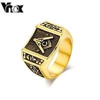 Fashion Masonic weddig rings stainless steel men ring jewelry  freemasonry  men's ring