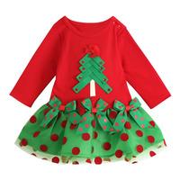 2014 Fashion Kids Party Dress Baby Girl's Spot  Christmas Summer Dress Girls Cartton tutu dress for Kids