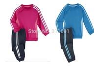 Retail 2014 NEW arrive brand AD children sport suit 2 pcs set children cloth children sport clothing children autumn set