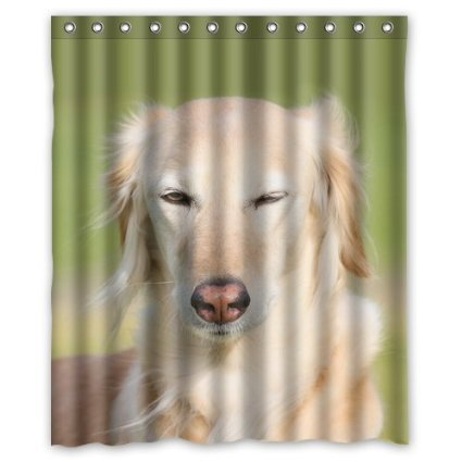 A Female Dog Is Very Shy And Beautiful 100% Polyester Shower Curtain 60 x 72 inches High quality Waterproof Shower curtain(China (Mainland))