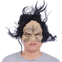 Terror Halloween mask party mask natural latex half face for adults  free shipping