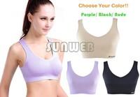 Plus Size Women's Comfort Soft Seamless Stretch Sports Leisure Bra Yoga Vest crop top Bra No Padded B6 SV007716