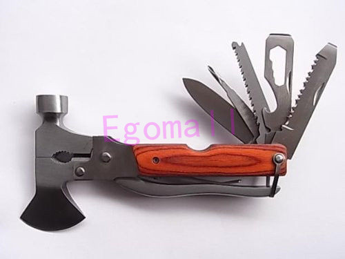 Multi functional Folding Axe Hammer Plier Rescue knife Military Hunting Knife Tool Camping Axe Hiking Saw