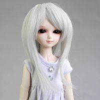 """[wamami] 01# Silver Gray Straight Wig 1/6 SD DZ BJD Dollfie 6-7"""""""