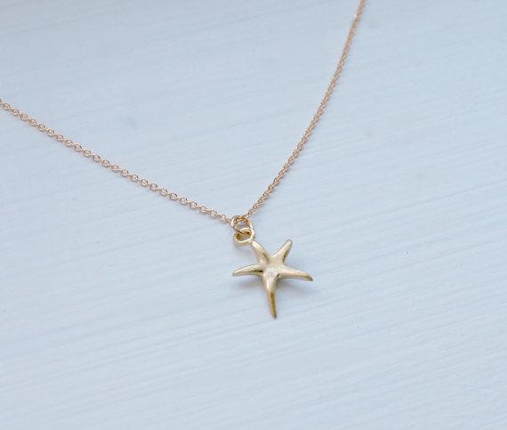2014 Newest Listing Jewelry Necklace,Gold Starfish Necklace ,Pentagram Pendant Necklace, Marine Organisms Jewelry--30pcs/lot(China (Mainland))