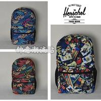 Herschel Backpack Hip Hop Street Floral Poker Fashion Backpacks School Bags Men's Backpacks Outdoors Casual Sports Bag Satchel