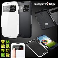 Slim Armor Window View SPIGEN SGP Case For Samsung Galaxy S4 SIV i9500 Flip Smart Sleep/Wake Cover Luxury TPU+PC Case