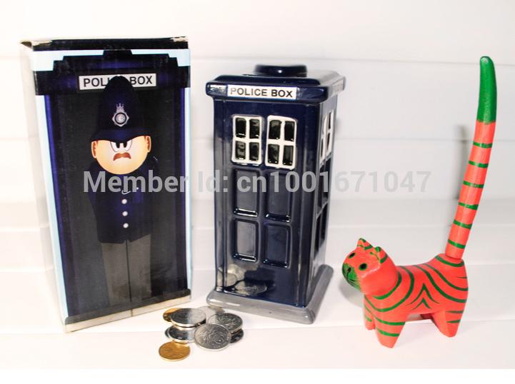 Free shipping 1piece creative special doctor who tardis piggy bank ceramic coin box money boxes - Tardis piggy bank ...