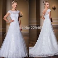 Vestido De Noiva Renda High Neck Bridal Dresses Cap Sleeve A-line Sweet Wedding Gown Vestido De Casamento Vestido De Noiva Curto