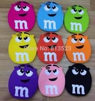 M&M HandBag Chain Silicone Case For iPhone 5 5S 5C