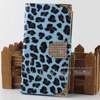 New Leopard Leather Flip Hard Cute Handbag Style Cover Case For Samsung Galaxy S4 i9500 Card Holder Wallet Original Phone