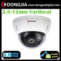 DA-IP6118TDV 2.8-12mm varifocal lens vandalproof 2 megapixel 1080p ip dome camera