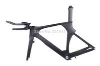 New Carbon Time Trial Triathlon Bike Frameset 56cm with Frame/Fork/Seatpost/Headset/Handlebar Stem BSA UD Matt or Gloss