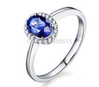 925 Sterling Silver Amethyst ladies' finger Ring rhinestone silver jewelry