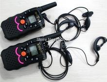 2014 cute T388 2pc pack Twin walkie talkie radios kitty cat portable mobile radios interphone PMR