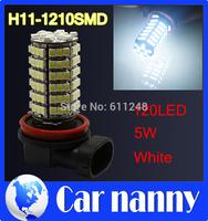 Wholesale 10PCS New H11 SMD 3528 120 LED Car Fog Parking Head Light Cold White 12V Vehicle Source Car light source