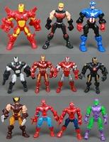 Marvel Super Hero Mashers Green Goblin Wolverine Iron Man Spiderman Hawkeye RARE Figure