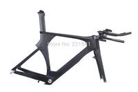 New Carbon Time Trial Triathlon Bike Frameset 49cm with Frame/Fork/Seatpost/Headset/Handlebar Stem BSA/BB30 UD Matt or Gloss