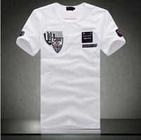 Black  White High quality fashion casual men Stylish cotton  short sleeve Shark yatching  t-shirt M L XL XXL XXXL XXXXL O neck